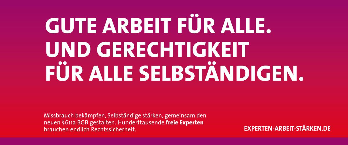 Experten-Arbeit-Stärken SPD Arbeit für alle und Gerechtigkeit für Selbständige