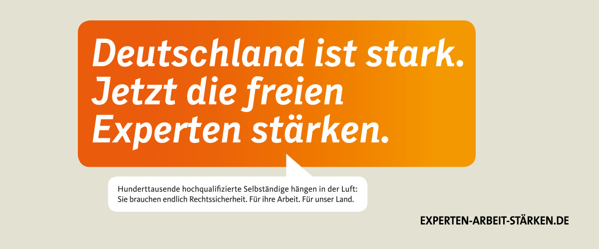 Experten-Arbeit-Stärken Deutschland stark jetzt die freien Experten stärken
